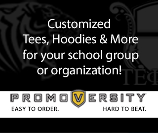 Customized Tees, Hoodies & More for your school group or organization! PROMOVERSITY EASY TO ORDER. HARD TO BEAT. Click here to go to the Promoversity website.