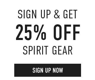 Sign up & get 25% off Spirit Gear. Click to enter your email.